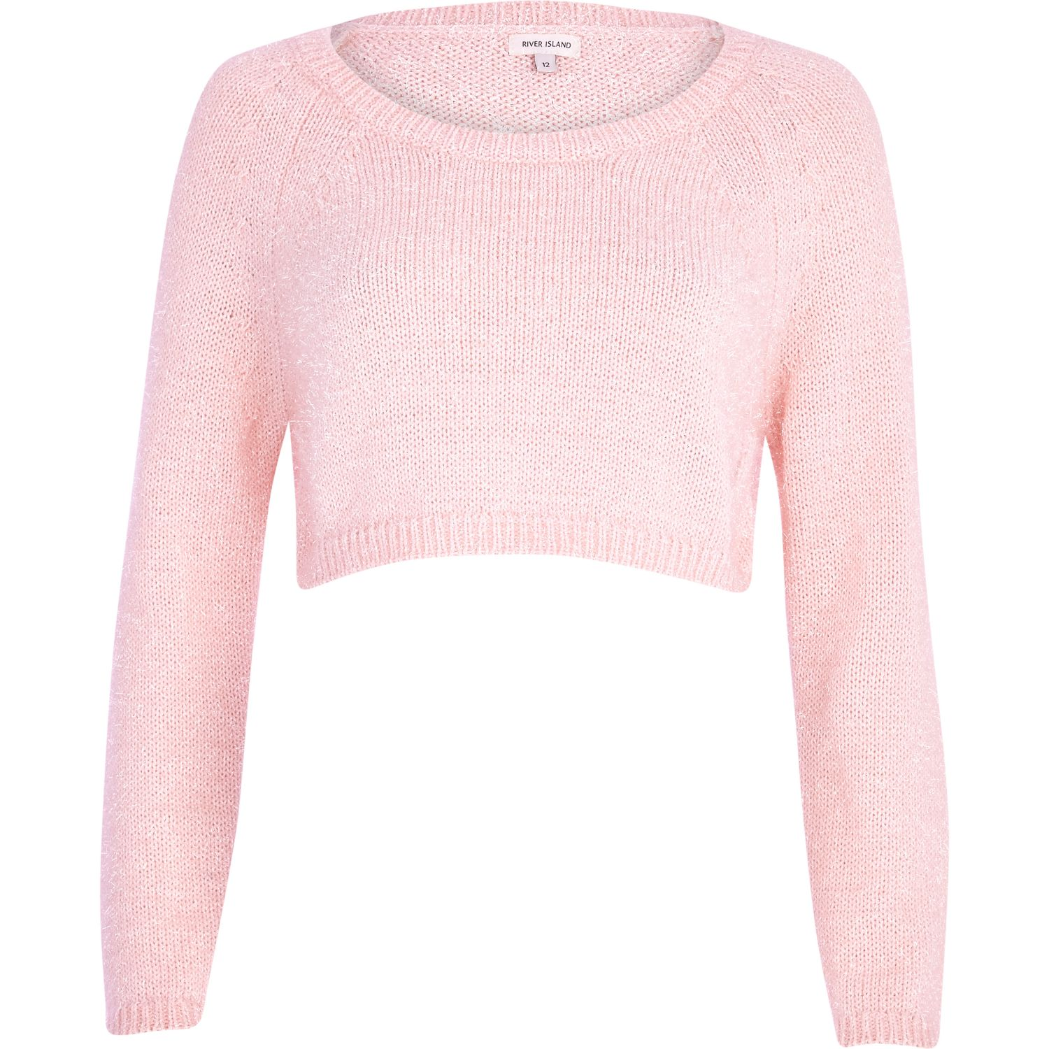 pink cropped sweater - knitwear - sale - women