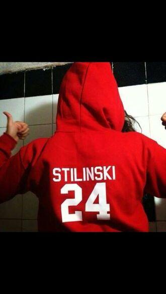 sweater teen wolf red red sweater stiles stilinski stiles 24