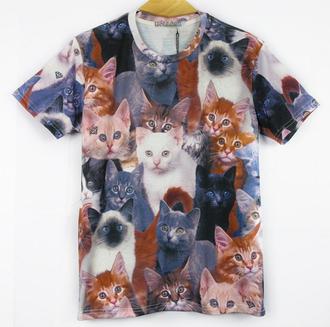 t-shirt cats tee cute