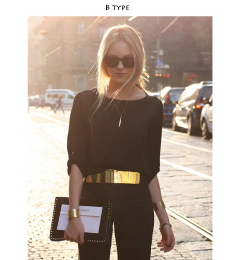 Mirrored Metal Waist Belt