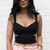 Cut Out Wrap Style Cropped Top Bralet in Black – One Nation Clothing