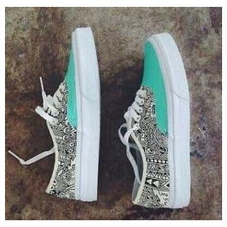 shoes aztec & teal vans vans style mint vans need it please love these