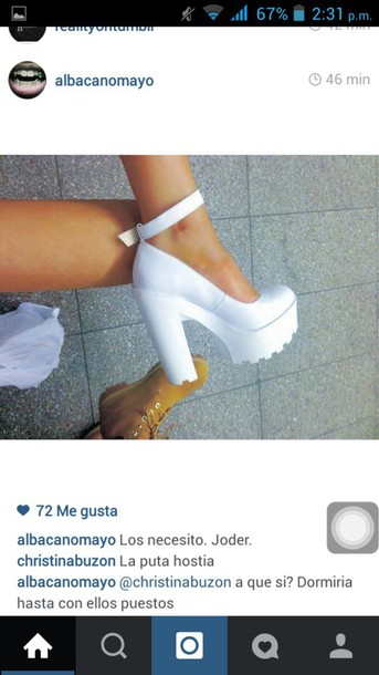 shoes tacones white shoes perfect shoes love shoes
