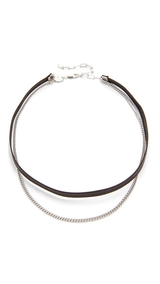 necklace choker necklace silver black jewels