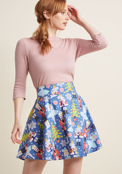3579 skirt circle skirt style cotton print bright