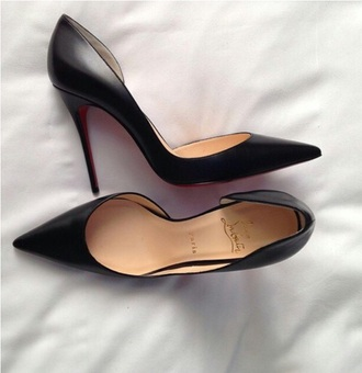 shoes black heel louboutin