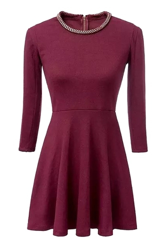 dress zaful long sleeve dress burgundy dress burgundy long sleeve dress