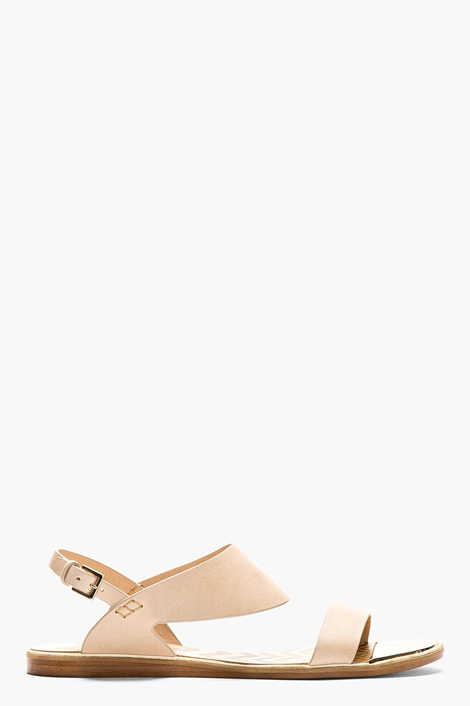 Nicholas kirkwood beige flat sandals