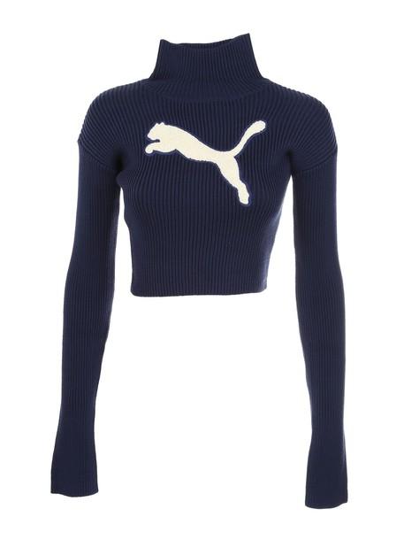 sweater turtleneck turtleneck sweater loose blue