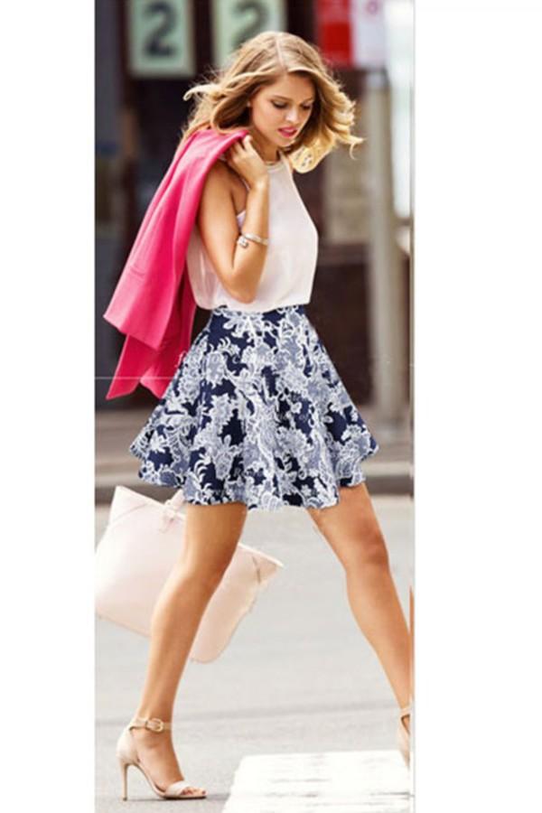 skirt kcloth floral printed skirt