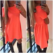 dress,clothes,orange dress