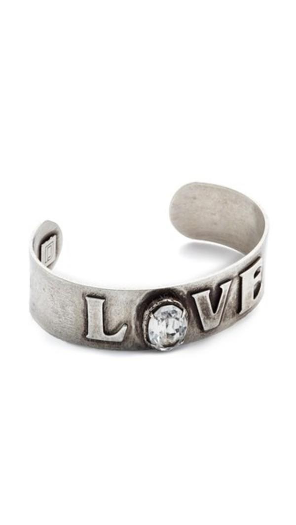 DANNIJO Charity Bracelet in silver / clear