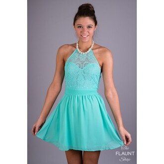 dress mint pearl lace summer spring