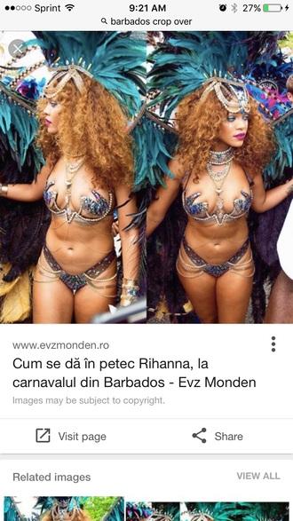 top rihanna carnival lingerie