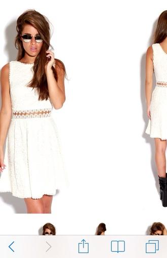 dress white dress skaterdress summer dress