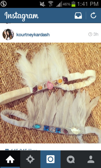 feathers head band