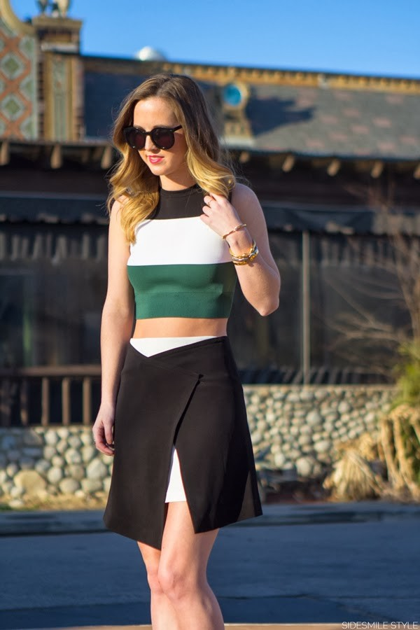 side smile style skirt sweater shoes jewels sunglasses