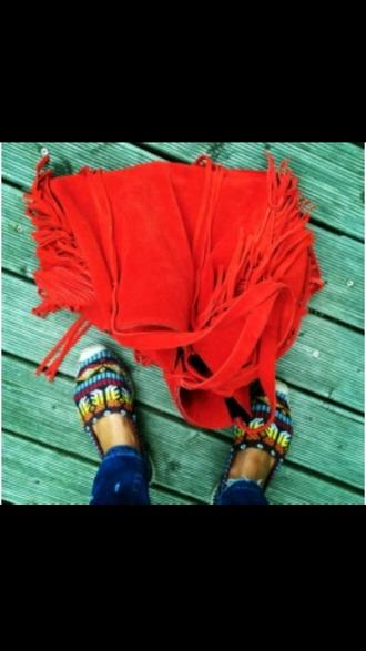 bag zara zara leather zara bag red bag hippie hippie bag hippie style indie boho boho bag