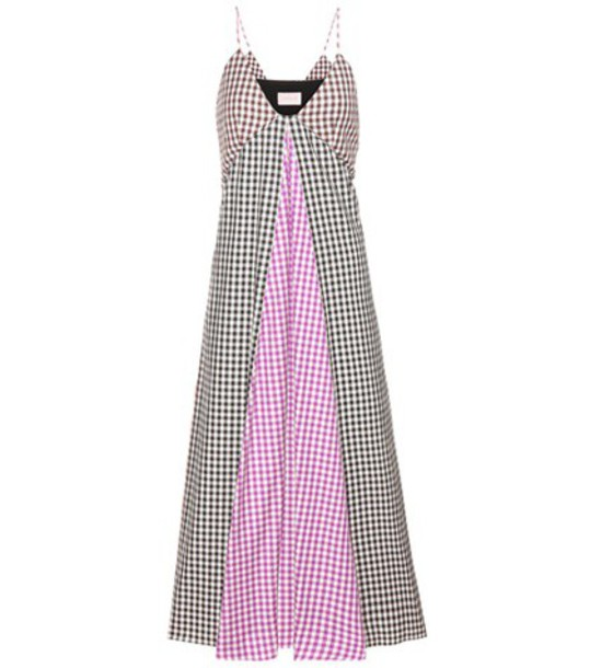 CHRISTOPHER KANE dress plaid cotton