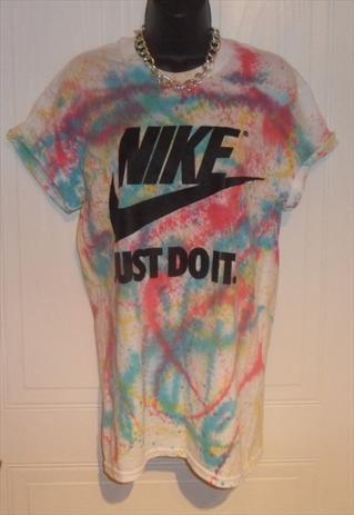 unisex customised NIKE grunge acid wash tie dye t shirt SM | mysticclothing | ASOS Marketplace