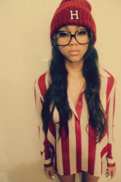 hat swag blouse shirt burgundy beanie button up blouse