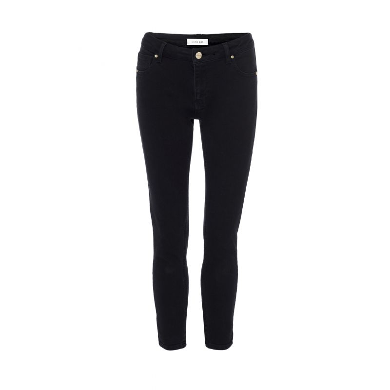 Cropped Jeans in Black