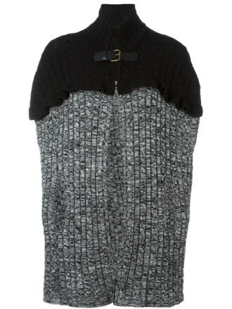 cape women wool grey top