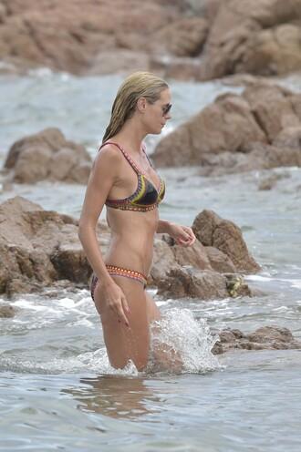 swimwear heidi klum sunglasses beach summer bikini top bikini bikini bottoms