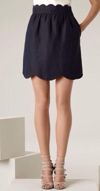 skirt black scalloped scalloped skirt scalloped trim black skirt