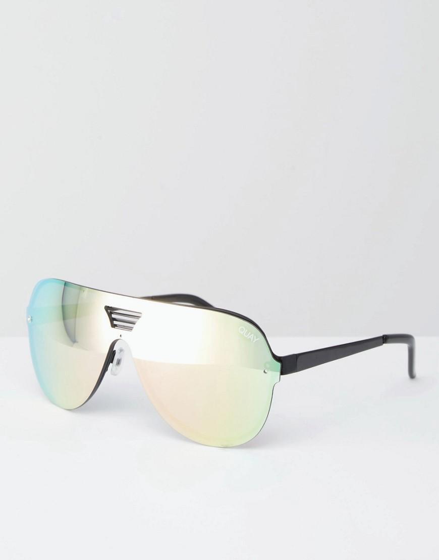 Aviator Frameless At Australia Mirror Sunglasses Rose Gold Quay Showtime eW2EDHY9I