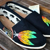 shoes,toms,custom toms,rasta,dreamcatcher,weed