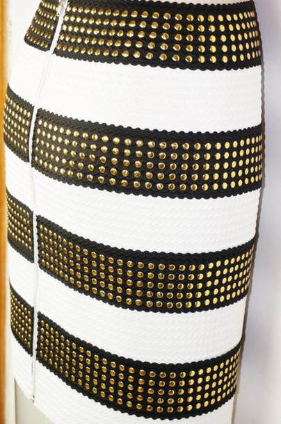 shirt skirt studded bandage bandage skirt gold gold skirt gold bandage skirt
