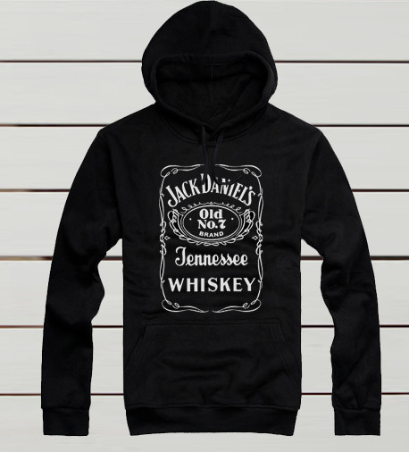 Jack Daniel Printed Cotton Hoodies