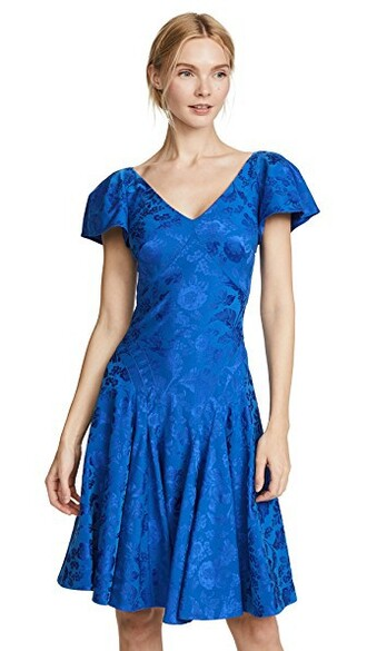 dress midi dress midi v neck blue royal blue