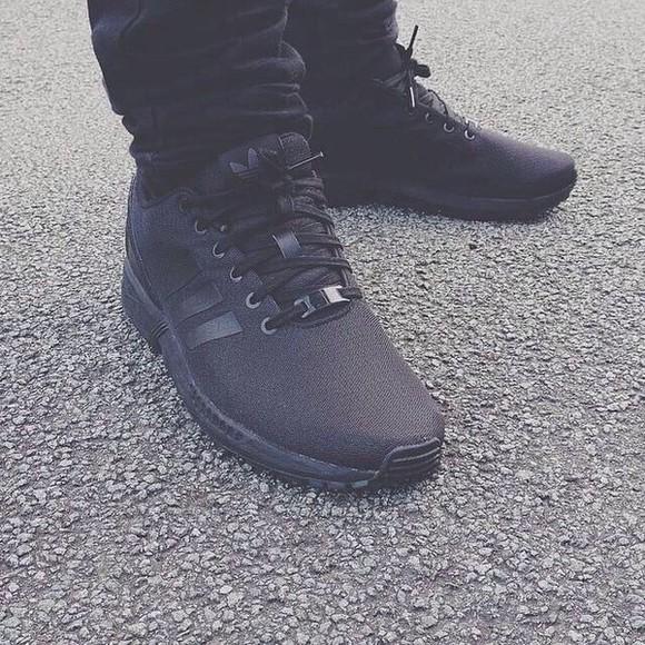 adidas blackout zxflux menswear