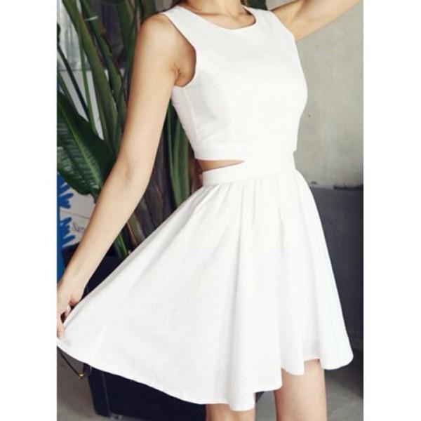 white dress white dress cute dress girly