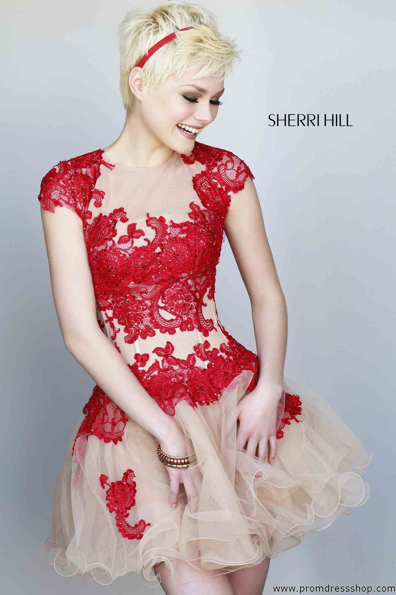 Sherri Hill Short Dress 11153 at Prom Dress Shop