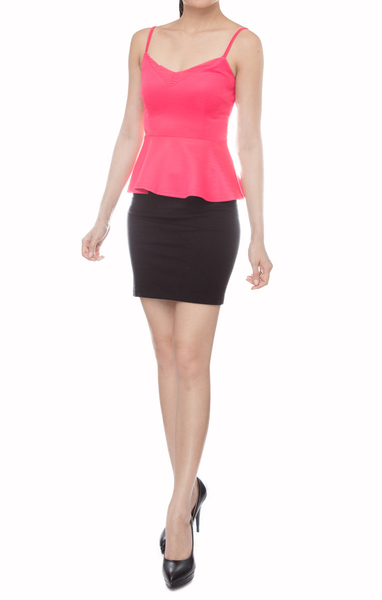 Conrad Basic Tank in Fuschia - Online Fashion Boutique in Singapore | Foxy Fame