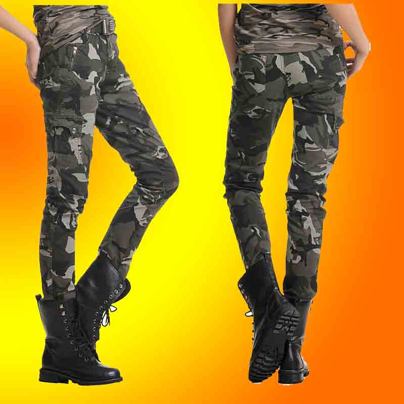 women army fatigue pants Fashion elegant slim women's Camouflage pants slim pencil pants Camouflage-inPants & Capris from Apparel & Accessories on Aliexpress.com