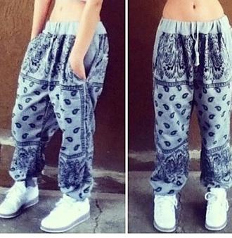 bandana print jogging bottoms aliexpress pajamas black or gray
