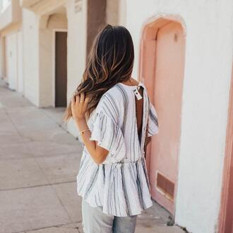top backless top tumblr open back backless stripes striped top