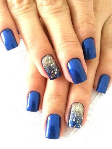 nail polish blue glitter make-up party make up