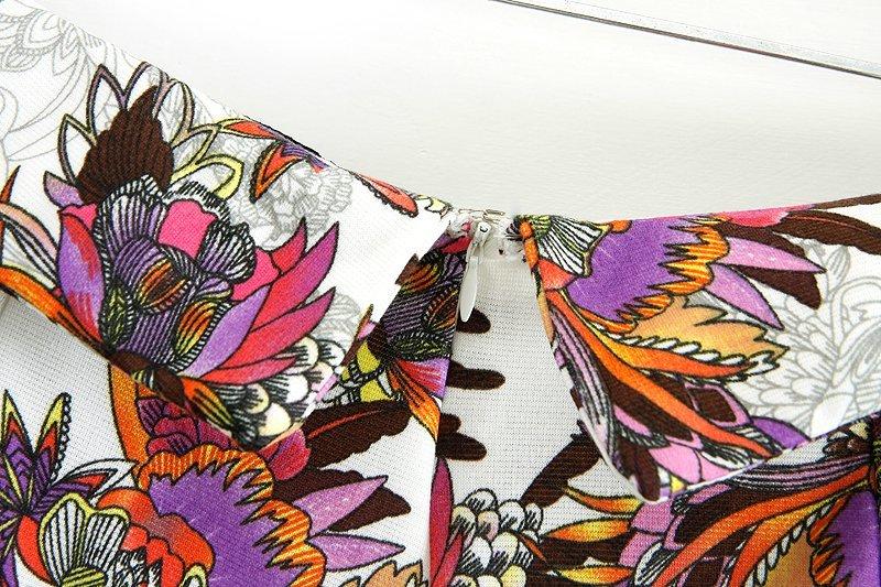 White High Waist Floral Skirt Shorts - Sheinside.com