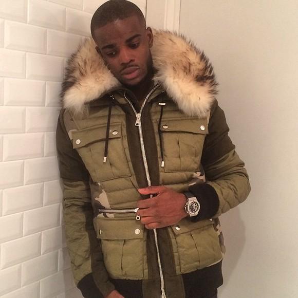 khaki jacket fur jacket