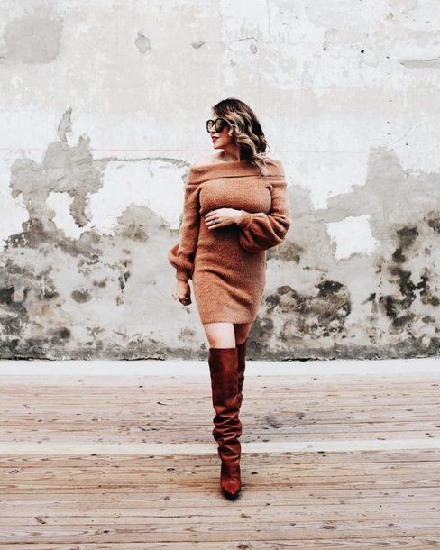 lifelutzurious blogger shirt dress tights jacket socks shoes sweater dress boots over the knee boots