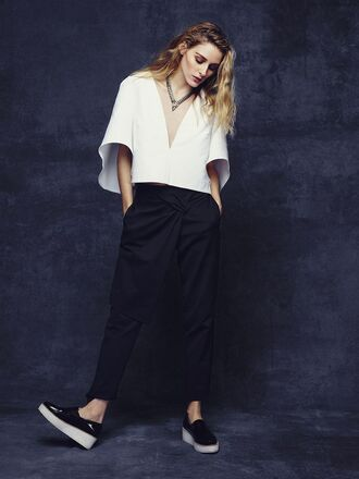 jewels top pants olivia palermo sneakers flats
