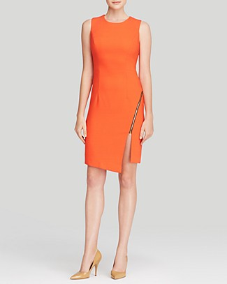 MILLY Dress - Cady Zipper | Bloomingdale's