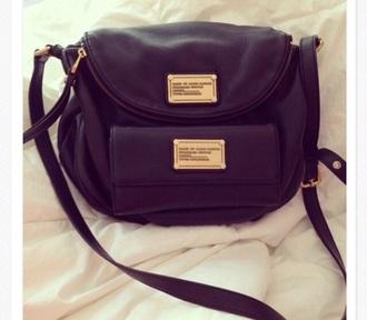 bag black gold detail crossbody bag