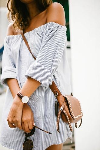 dress stripes off the shoulder dress striped dress