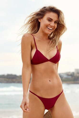 swimwear sapia simone triangle bikini set classic triangle bikini top adjustables straps bikiniluxe